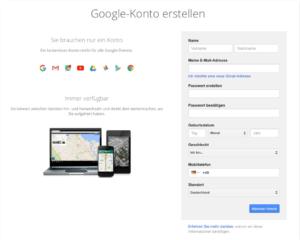 Eingeben von Daten in Google Business
