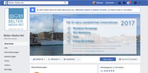 Unser neues Facebook-Profil für unser Unternehmen